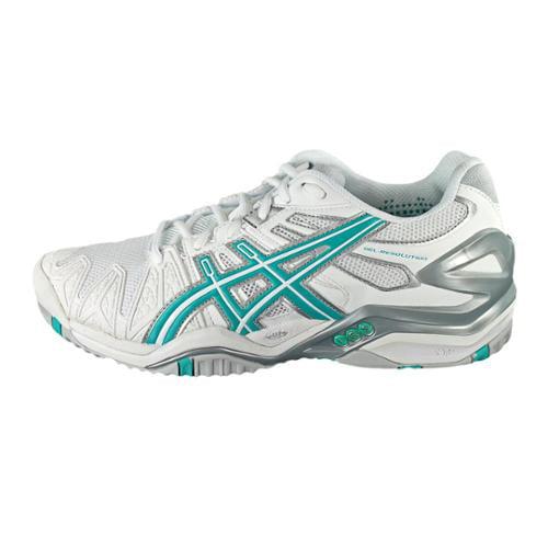 asics gel resolution 5 womens size 6 white tennis shoes eu