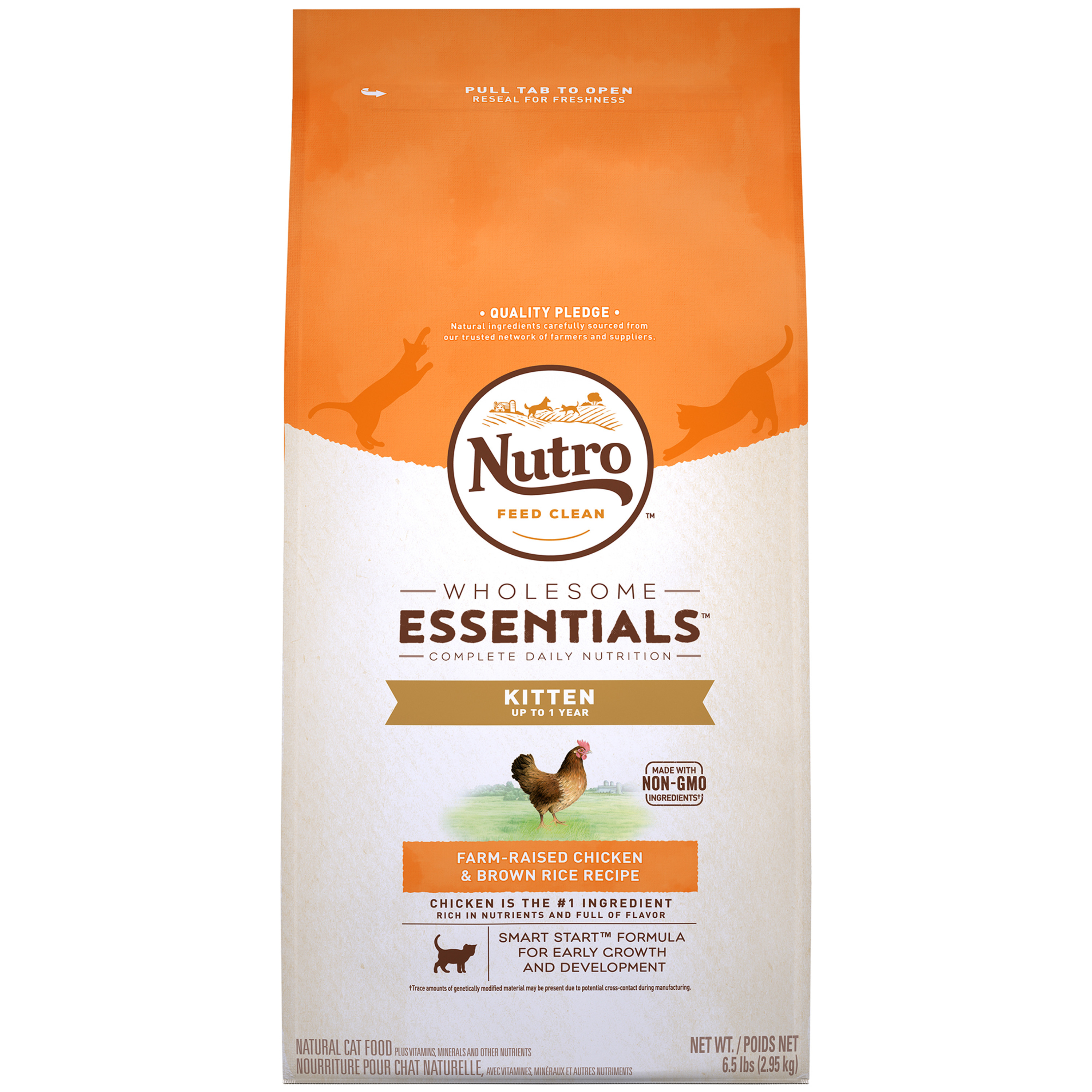 Nutro Wholesome Essentials Farm-Raised Chicken & Brown Rice Recipe Dry Kitten Food, 6.5 Lb