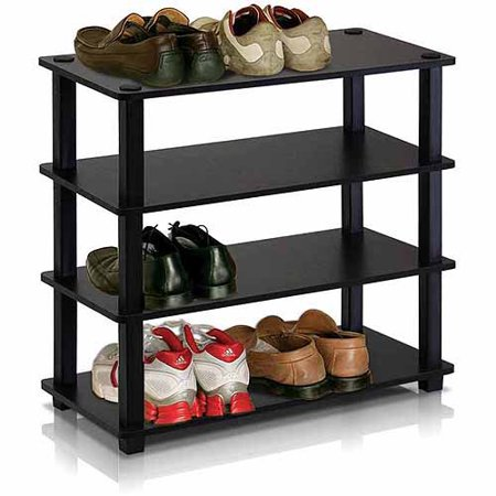 Furinno 13081 Turn-S-Tube No-Tools 4-Tier Shoe Rack ()
