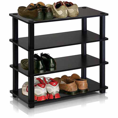 Furinno 13081 Turn-S-Tube No-Tools 4-Tier Shoe Rack