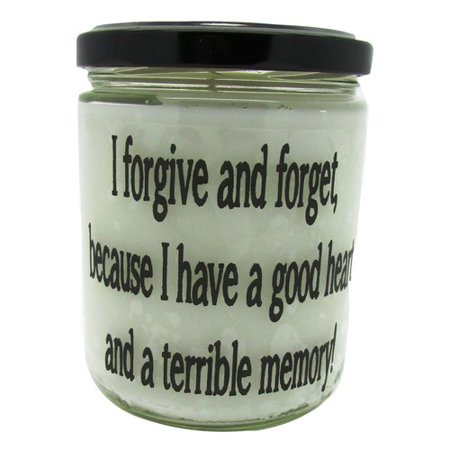 Star Hollow Candle Company I Forgive and Forget Because I Have A Good Heart and Bad Memory.. Pecan Sandies Jar
