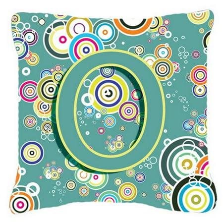 Carolines Treasures CJ2015-OPW1818 Letter O Circle Circle Teal Initial Alphabet Canvas Fabric Decorative Pillow - image 1 de 1