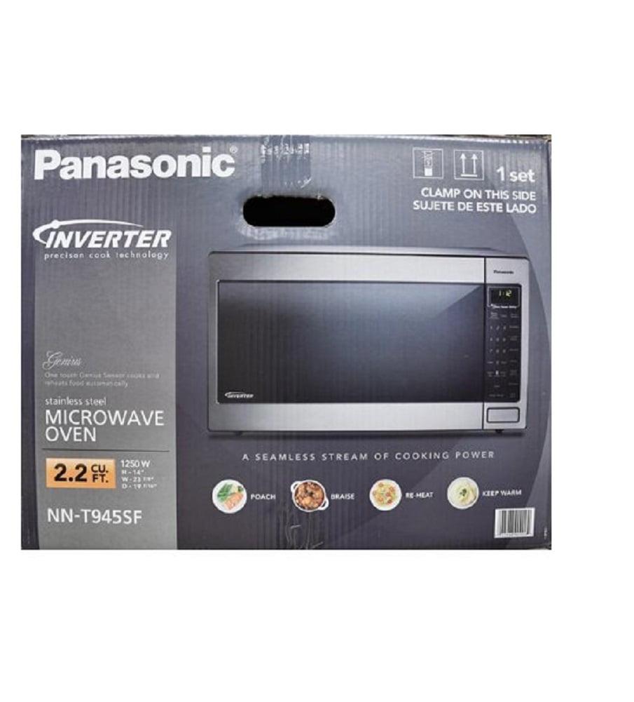 panasonic 22cu ft 1250watt microwave oven stainless walmartcom - Panasonic Microwave Inverter