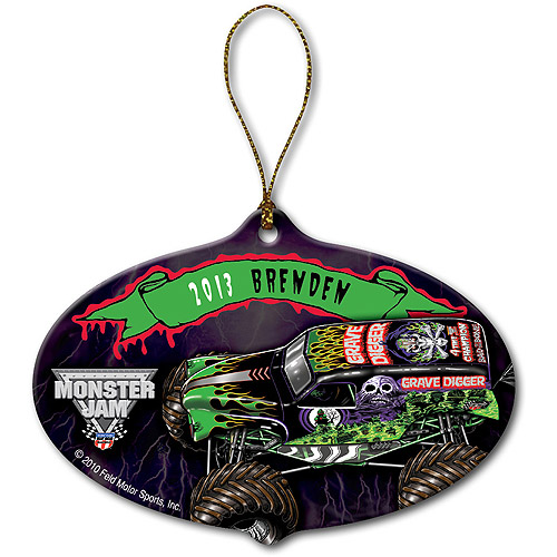 Personalized Monster Jam Grave Digger Christmas Ornament