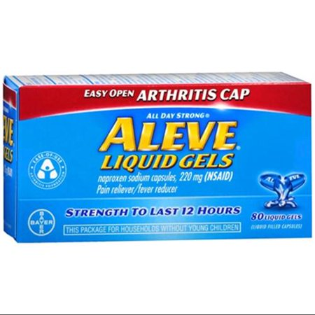 Aleve Liquid Gels Easy Open arthrite Cap 80 Gels liquide (paquet de 6)