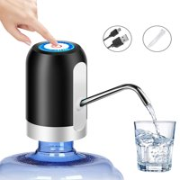 Water Pump Dispenser, Automatic Drinking Water Bottle Pump for 1.18-5 Gallon Water Bottle Dispenser USB Charging Portable Water Dispenser With LED Light for Home Kitchen Office Outdoor Use