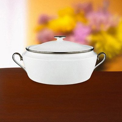 Lenox Solitaire White Covered Vegetable Bowl