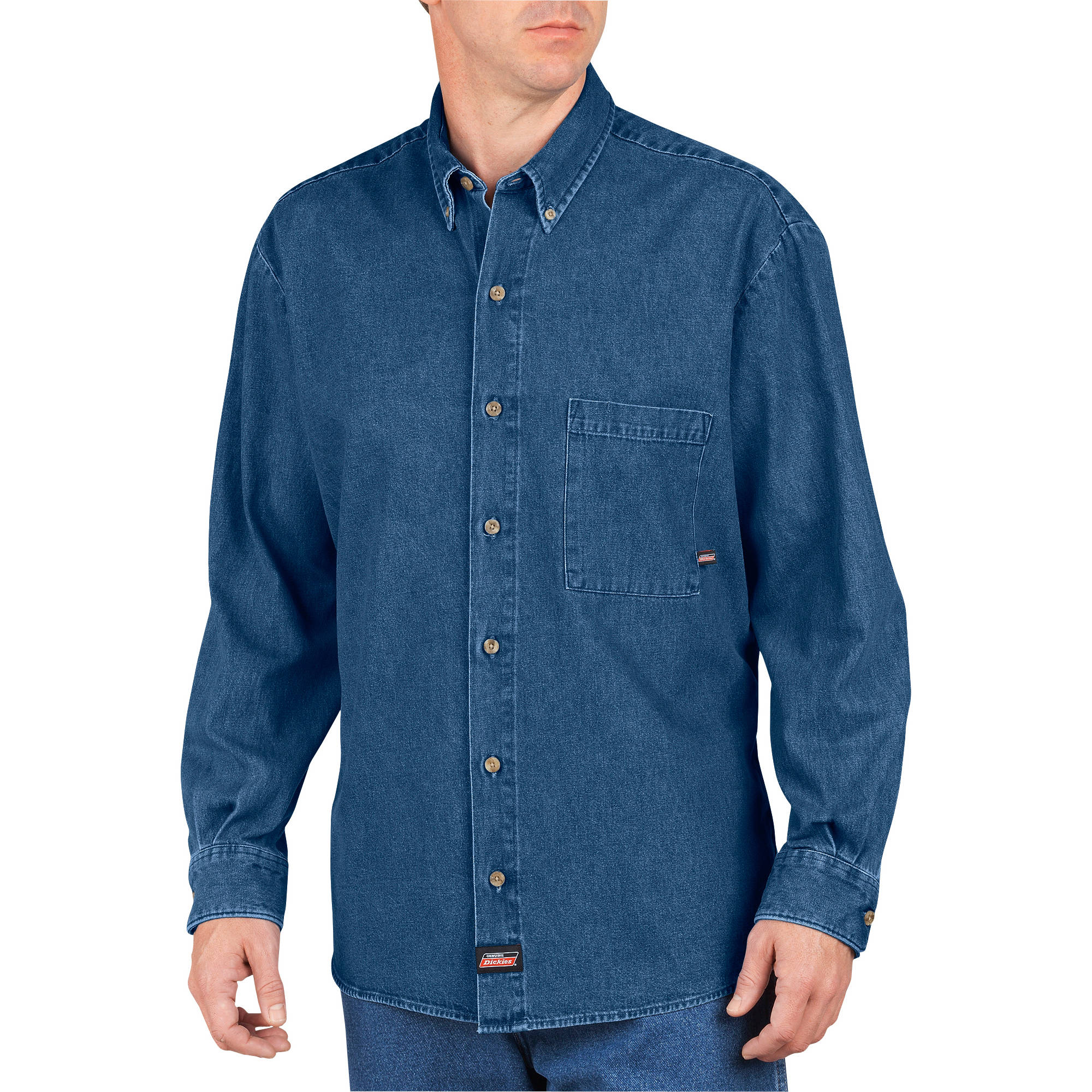 Big Men's Long Sleeve Denim Shirt