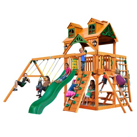 Gorilla Playsets Navigator Wooden Swing Set with Malibu Wood