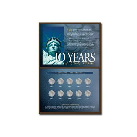 American Coin Treasures 10 Years of Liberty Nickels Memorabilia