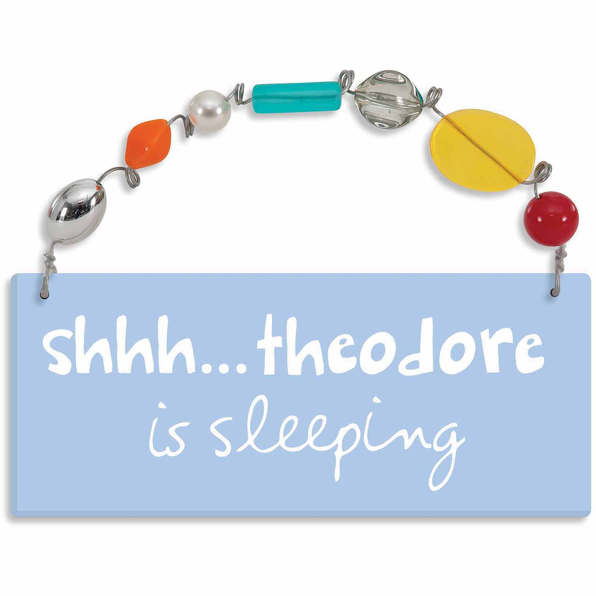 Personalized Sandra Magsamen Shhh���He Is Sleeping Wall Plaque