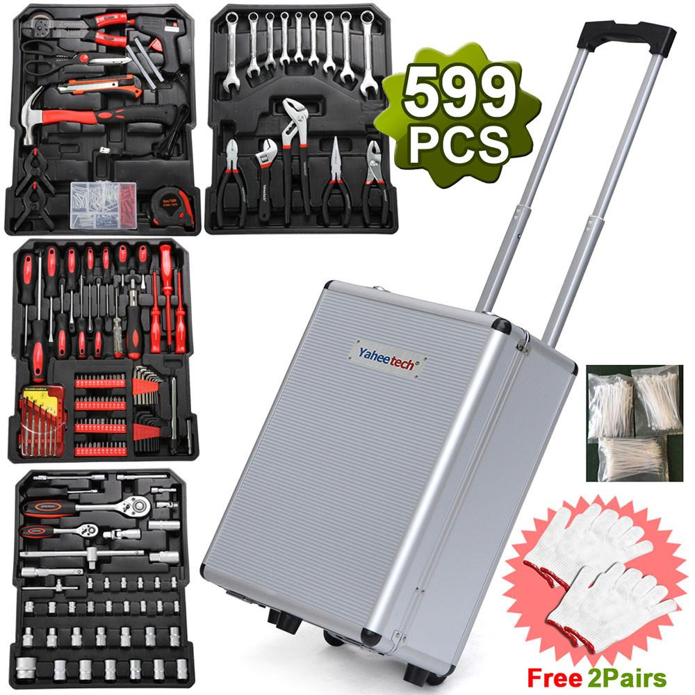 YaHeetech 599pcs General Tool Set,Household Tool Kit, with Sturdy Aluminium Toolbox... by Yaheetech