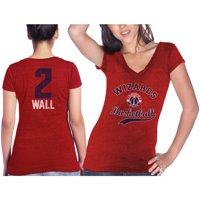 John Wall Washington Wizards Majestic Threads Women's Name & Number Tri-Blend V-Neck T-Shirt - Red