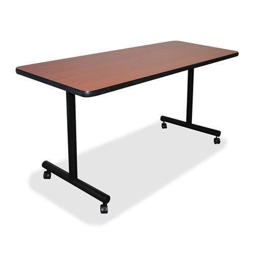 """60677 Lorell Training Table Top - Rectangle - 24"""" x 60"""" - Vinyl, Particleboard - Cherry Top"""
