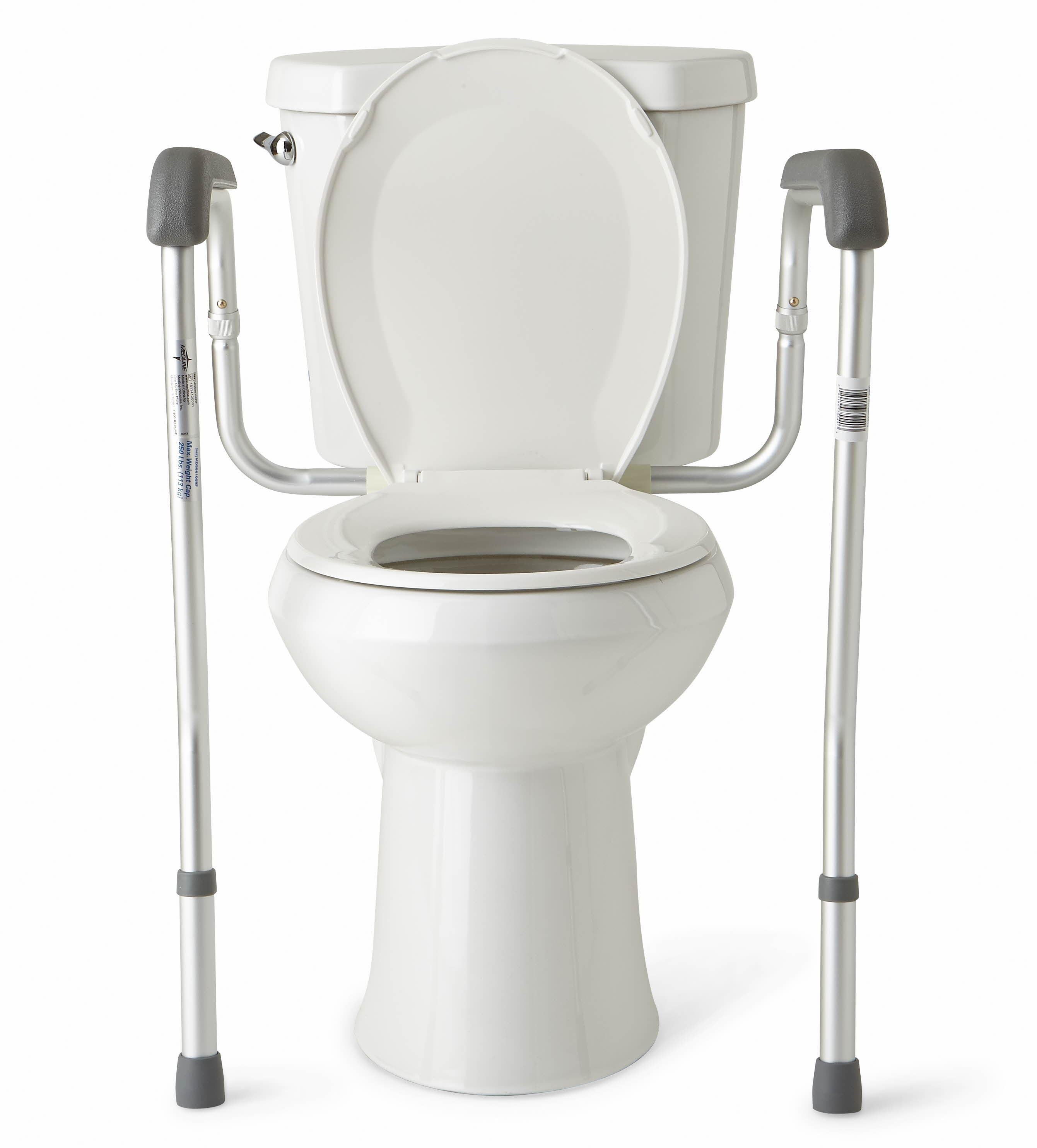 Medline Height Adjustable Toilet Safety Rails