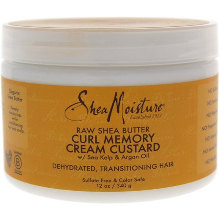 Loreal Textureline Curl Memory - 3 Pack - Shea Moisture Raw Shea Butter Curl Memory Cream Custard 12 oz