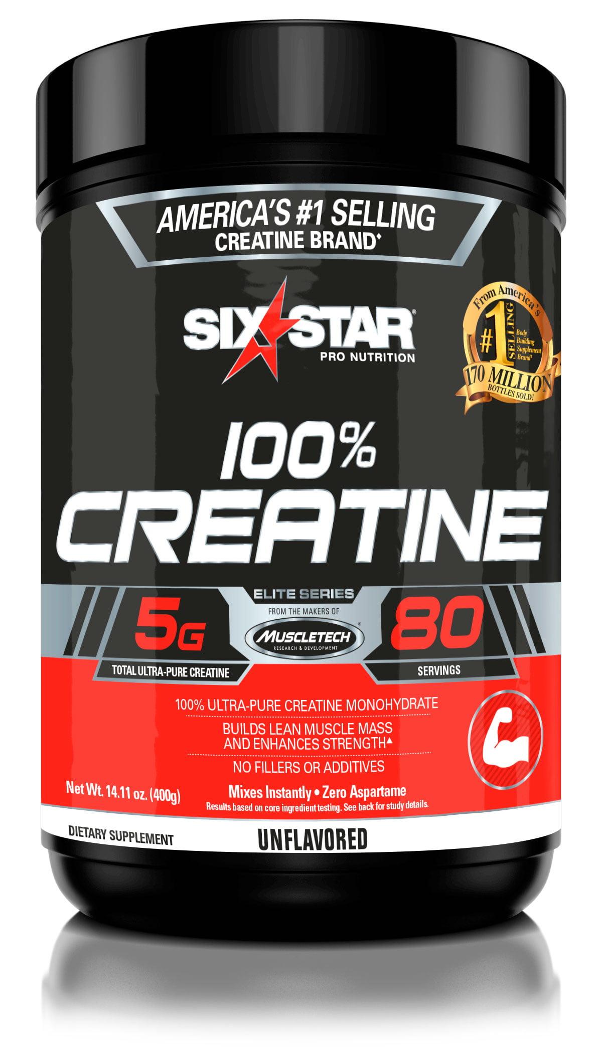 Six Star Pro Nutrition Elite Series Creatine Powder, 80 Servings -  Walmart.com