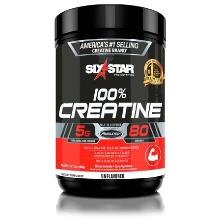 (2 pack) Six Star Pro Nutrition Elite Series Creatine Powder, 80 Servings ()