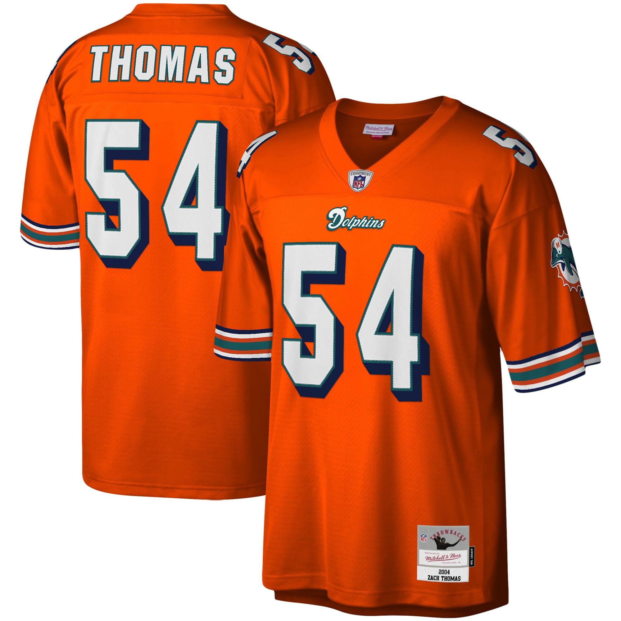 Zach Thomas Miami Dolphins Mitchell & Ness Legacy Replica Jersey - Orange