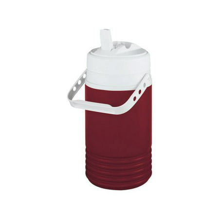 Igloo Legend Beverage Jug - Red and White, 1/2 (Glass Beverage Jug)