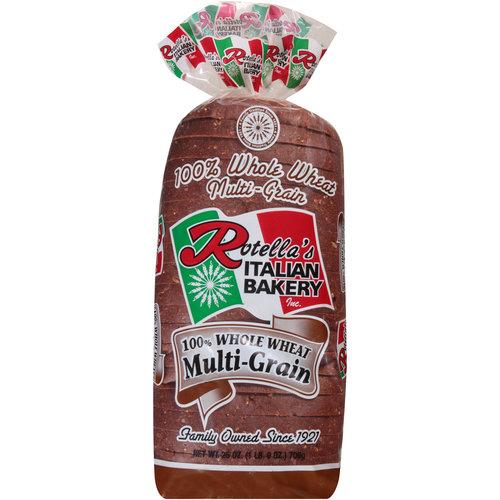 Rotella's Italian Bakery 100% Whole Wheat Multi-Grain Bread, 25 oz