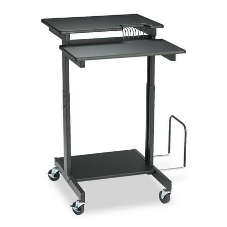 BALT Web A/V Stand-Up Workstation, 34w x 31d x 44-1/2h, Black Web A/v Stand