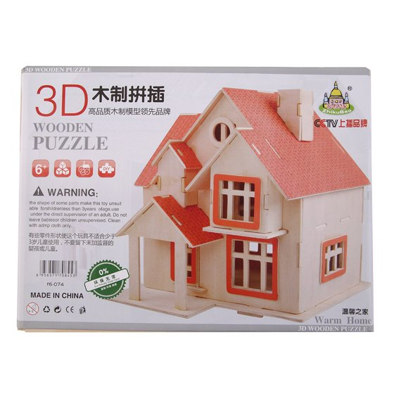 Kids Girl Boy 3D Villa House DIY Model Villa House Home Toy