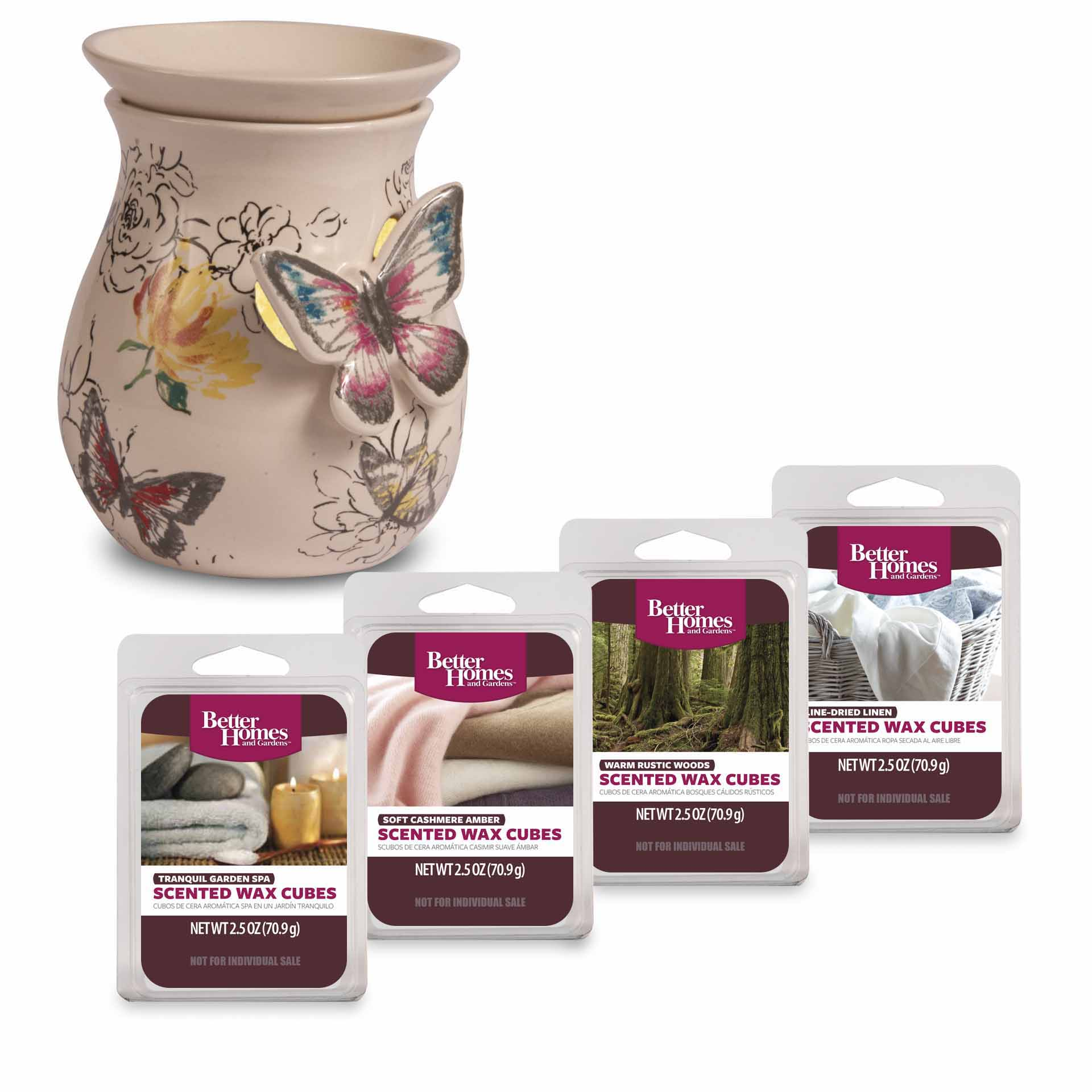 Better Homes and Gardens Wax Warmer Starter Set, Butterflies