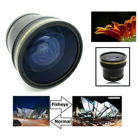 Super Hi Def 0.17x Fisheye Lens For Canon EOS Rebel T6 80D 70D (58mm (Best Lens For 70d)