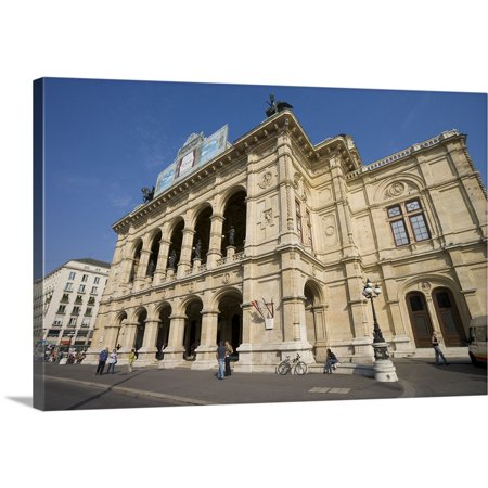 Great BIG Canvas | Ali Kabas Premium Thick-Wrap Canvas entitled The Vienna State Opera House, Vienna, (State Premium House)