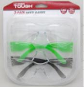 Hyper Tough Safety Glasses 3pk