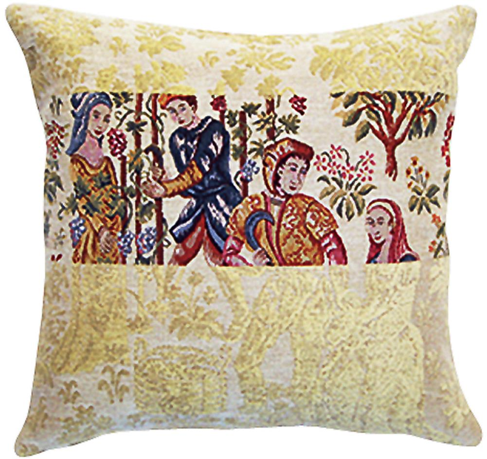 """Damas Vendanges French Cushion A - H 18 x W 18 Cushion Cover"""