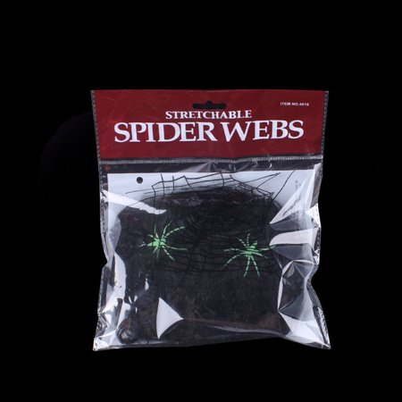 Halloween Spider Web Stretchy Soft Cobweb Scary Scene Props Party Decoration for Halloween Haunted