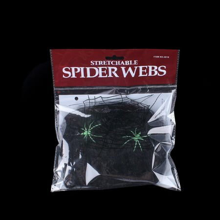 Halloween Spider Web Stretchy Soft Cobweb Scary Scene Props Party Decoration for Halloween Haunted House](Halloween Scary Scene)