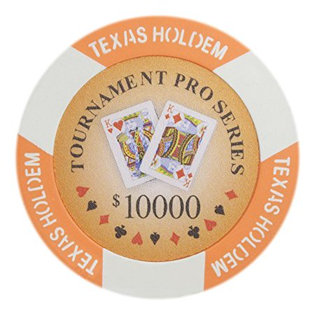 Tournament Pro Series 11.5g Poker Chips, $10,000 Clay Composite, 50-pack