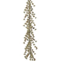 5-Ft Holiday Snowy Winter Ming Pine Garland Fireplace Mantel