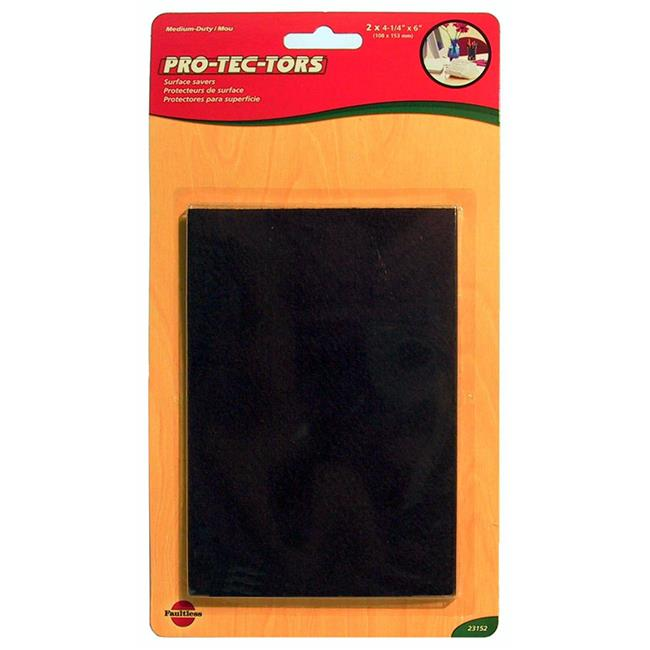 MADICO 23152 Pro-Tec-Tors - 4.25 in. x 6 in. Self Adhesive Blanket Medium Duty Felt Pads - Brown - 10 Packs