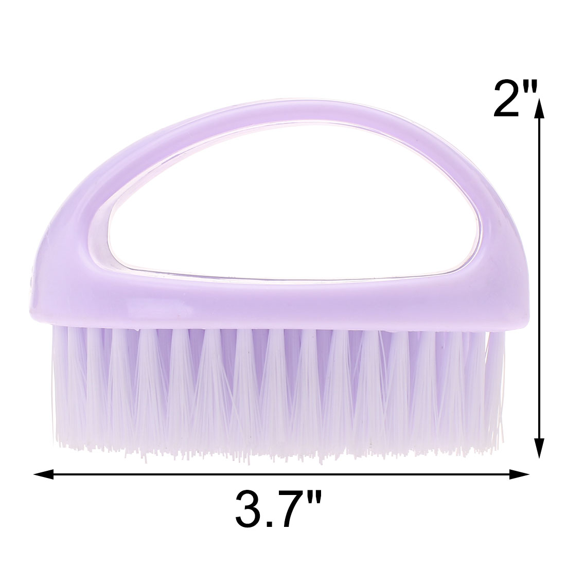 Household Plastic Handle Clothes Shoes Scrubbing Brush Cleaning Tool Purple - image 1 of 2