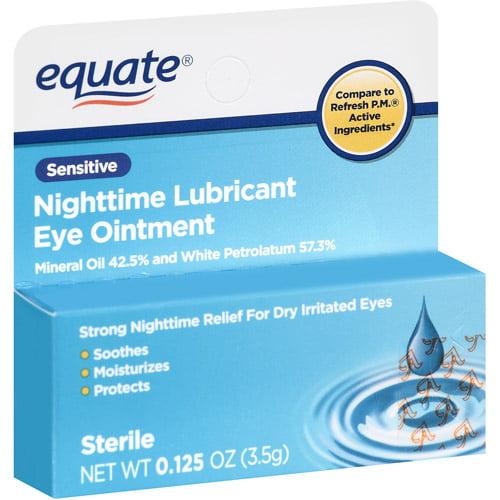 Equate Nighttime Lubricant Sensitive Eye Ointment, .125 oz