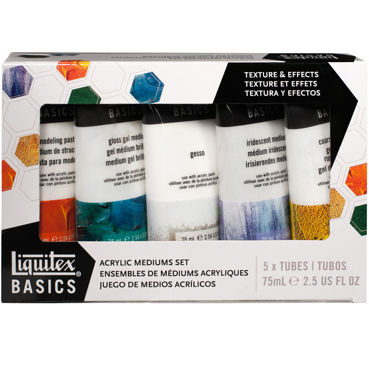 Liquitex BASICS Mediums Starter Set 5/Pkg-