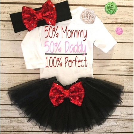 Fashion Newborn Baby Girls Long Sleeve Top Romper Sequin Lace Tutu Skirt Outfits Clothes - Toddler Fashion Boutique