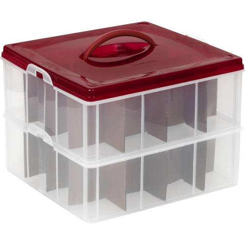 Snapware Snap N Stack 12x12 2 Layer Ornament Keeper, Set of 4