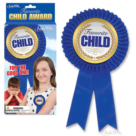 FAVORITE CHILD AWARD - BLUE RIBBON - FUNNY GAG GIFT - CHRISTMAS OR BIRTHDAY](Funny Awards)