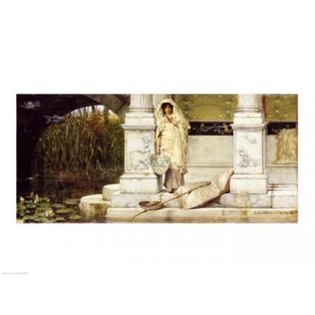 1 Fuser Oil - Roman Fisher Girl 1873 (oil on panel) Canvas Art - Sir Lawrence Alma-Tadema (24 x 18)