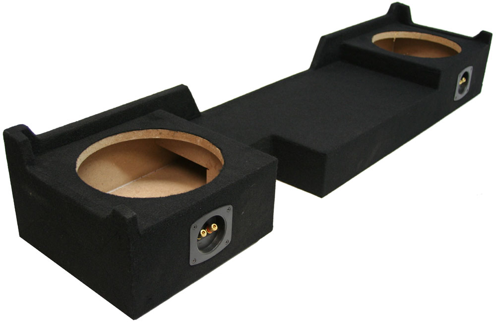 "Dual 12/"" Subwoofer Sub Box Enclosure For 2004-2008 Ford F150 Xcab or SuperCrew"