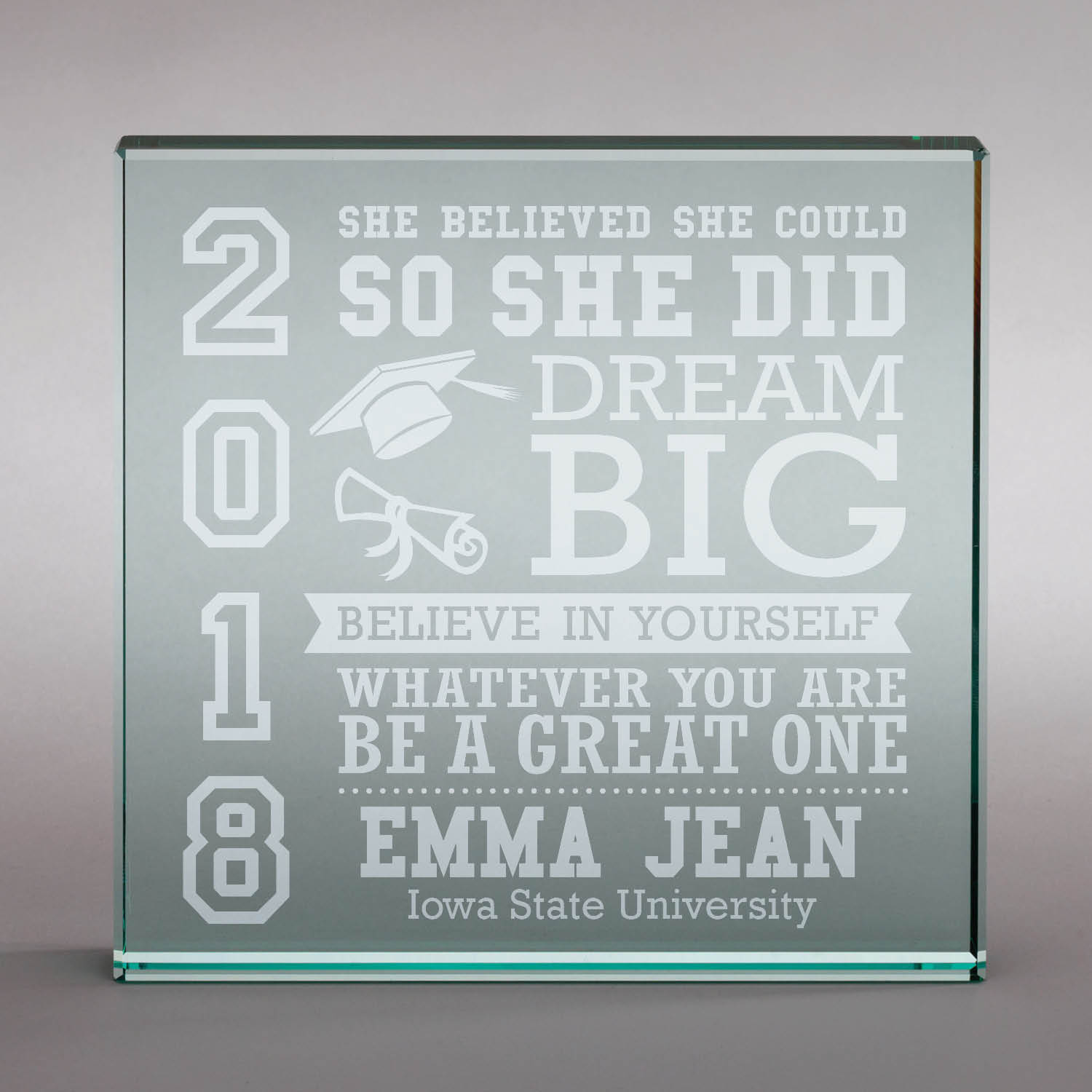 So He Or She Did Personalized Graduation Keepsake, 6x6