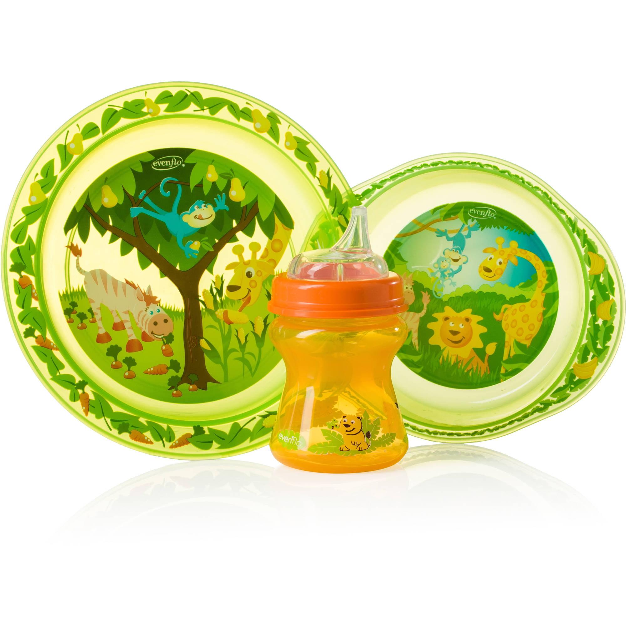Evenflo Zoo Friends Toddler Feeding Set, BPA-Free