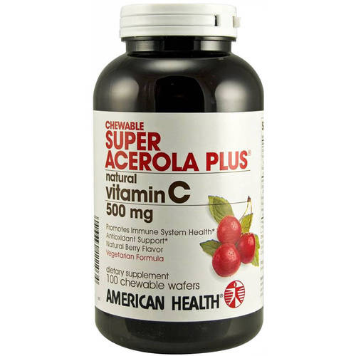 American Health Super Acerola Plus Chewable Wafers, 100 CT