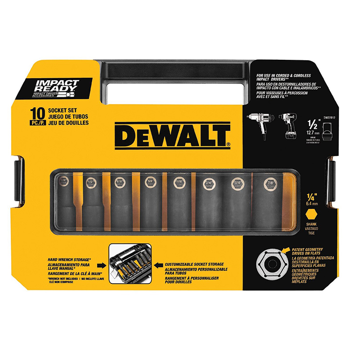 "DeWalt 3/8"" 10 Pc. Impact Ready Socket Set"