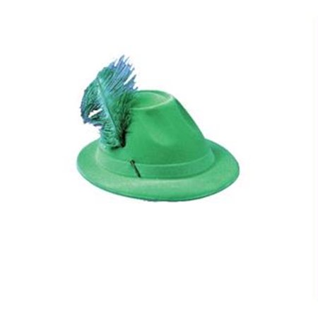 MorrisCostumes GC88 Hat Alpine Green with Feather](Alpine Hat)